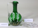 Victorian green glass decanter with stopper.; Unknown maker; Unknown; CR2008.008.54