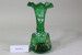 Victorian green glass tall vase; Unknown maker; Unknown; CR2008.008.20