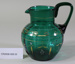 Victorian green glass jug; Unknown maker; Unknown; CR2008.008.53