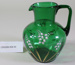 Victorian green glass jug; Unknown maker; Unknown; CR2008.008.50
