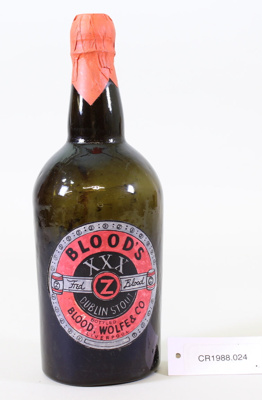 Stout bottle; Unknown maker; Unknown; CR1988.024