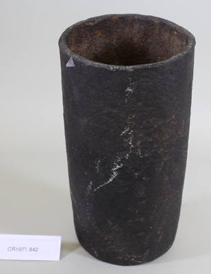 Crucible for melting gold; Unknown maker; Unknown; CR1977.842