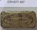 Matchbox; Unknown maker; Unknown; CR1977.437
