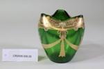 Art nouveau green glass vase; Unknown maker; Unknown; CR2008.008.29