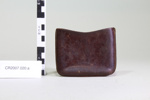 Brown leather pouches (2); Unknown maker; Unknown; CR2007.020