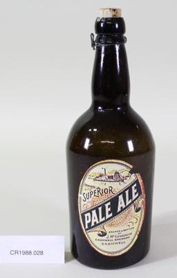 Beer bottle; Unknown maker; Unknown; CR1988.028