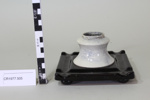 Ink well on square tray; Unknown maker; Unknown; CR1977.505