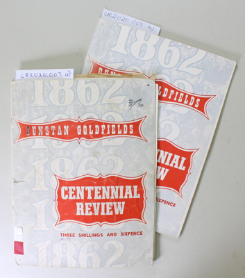 Booklet, Dunstan Goldfields Centennial Review; Unknown; 1960s; CR2020.007