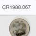 1908 halfpenny coin; Royal Mint; 1908; CR1988.067