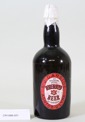 Beer bottle; Unknown maker; Unknown; CR1988.021