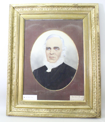 Photograph (colour enhanced), portrait of Rev Ben Drake; Unknown; Unknown; CR1980.073