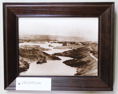 Photograph, Dredges at work, Alpine Basin pre 1908, framed; Unknown; 1900's; CR2003.031