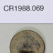 1910 one penny coin; Royal Mint; 1910; CR1988.069