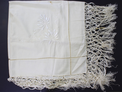 Afternoon tea tablecloth; Unknown maker; Unknown; CR2015.009.40