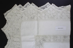 White linen tablecloth; Unknown maker; Unknown; CR2015.009.43