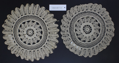 Doily (2); Unknown maker; Unknown; CR2015.009.17