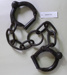 Wrought iron ankle cuffs or leg irons; Unknown maker; Unknown; CR1977.741