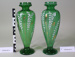 Pair of Victorian green glass vases; Unknown maker; Unknown; CR2008.008.4