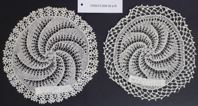 Doily; Unknown maker; Unknown; 2015.009.20