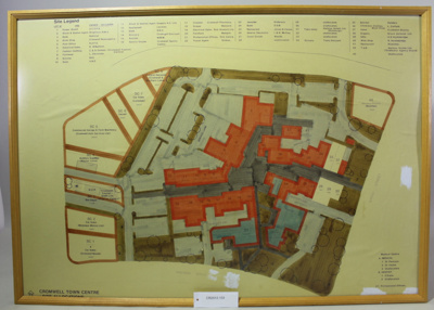 Sketch Plan, Cromwell Town Centre Site Allocations Plan, 1980's; Unknown; Unknown; CR2012.153