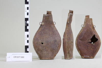 Tin flask; Unknown maker; Unknown; CR1977.692