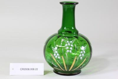 Victorian green glass vase; Unknown maker; Unknown; CR2008.008.22