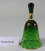 Victorian green glass hand bell; Unknown maker; Unknown; CR2008.008.58