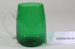 Victorian green glass jug; Unknown maker; Unknown; CR2008.008.56