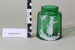 Victorian green glass jar; Unknown maker; Unknown; CR2008.008.17