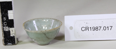 Chinese small celadon bowl; Unknown maker; Unknown; CR1987.017