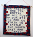 WWI Commemoration knitted wall hanging; Cromwell Woolcrafters Group; 2018?; CR2018.047.8