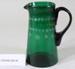Victorian green glass jug; Unknown maker; Unknown; CR2008.008.46
