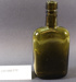 Smoky green glass whiskey flask/bottle; Unknown; Unknown; CR1988.012