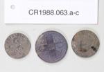 Coins, florin, half penny, shilling; Royal Mint; 1896 - 1905; CR1988.063.a-c