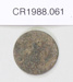 Coin; Unknown maker; Unknown; CR1988.061