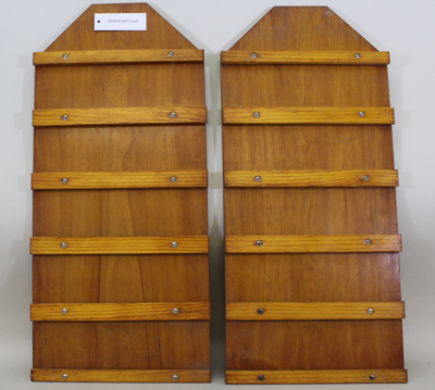 Pair of hymn boards, old Methodist Church, Cromwell; Unknown maker; Unknown; CR2016.031.3