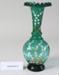 Victorian green glass vase; Unknown maker; Unknown; CR2008.008.41