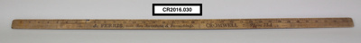 Wooden yardstick ruler; Unknown; Unknown; CR2016.030