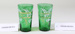 Victorian set of two green glasses; Unknown maker; Unknown; CR2008.008.59