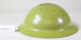 Green painted combat helmet; Unknown maker; Unknown; CR2018.047.1