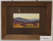 Framed painting of a landscape of heather growing wild against dark hills, by L. Carlisle ; L. Carlisle; Unknown; CR1980.083.2