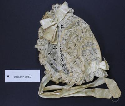 Baby's bonnet; Unknown maker; Unknown; CR2017.008.2