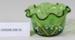 Victorian green glass dish; Unknown maker; Unknown; CR2008.008.55