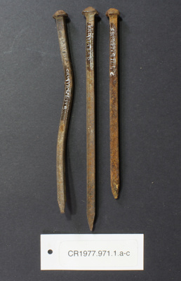 Nails of various sizes; Unknown maker; unknown; CR1977.971