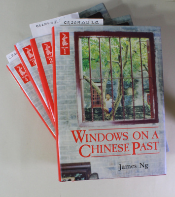 Book, WINDOWS ON A CHINESE PAST, Volumes 1-4; James Ng; 1993; 0-908774-56-7; CR2019.031.2