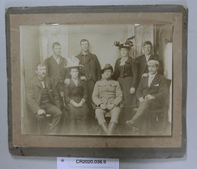 Photograph, Family group of Andersons and Coopers surrounding William (Will) Smith, 1879 - 1957, Boer War Veteran; Unknown; Unknown; CR2020.038.9