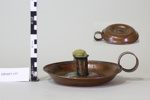 Copper Candlestick Holder ; Unknown maker; CR1977.177