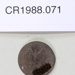 1882 one shilling coin; Royal Mint; 1882; CR1988.071