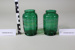 Pair of Victorian green glass vases.; Unknown maker; Unknown; CR2008.008.35