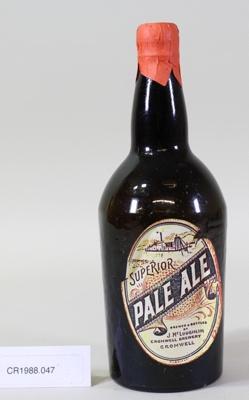Beer bottle; Unknown maker; Unknown; CR1988.047